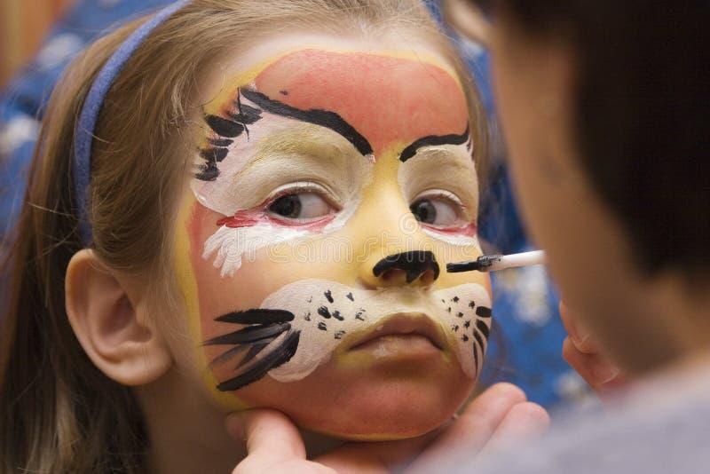 barwiony twarzy dzieciaka przyjęcie obraz royalty free