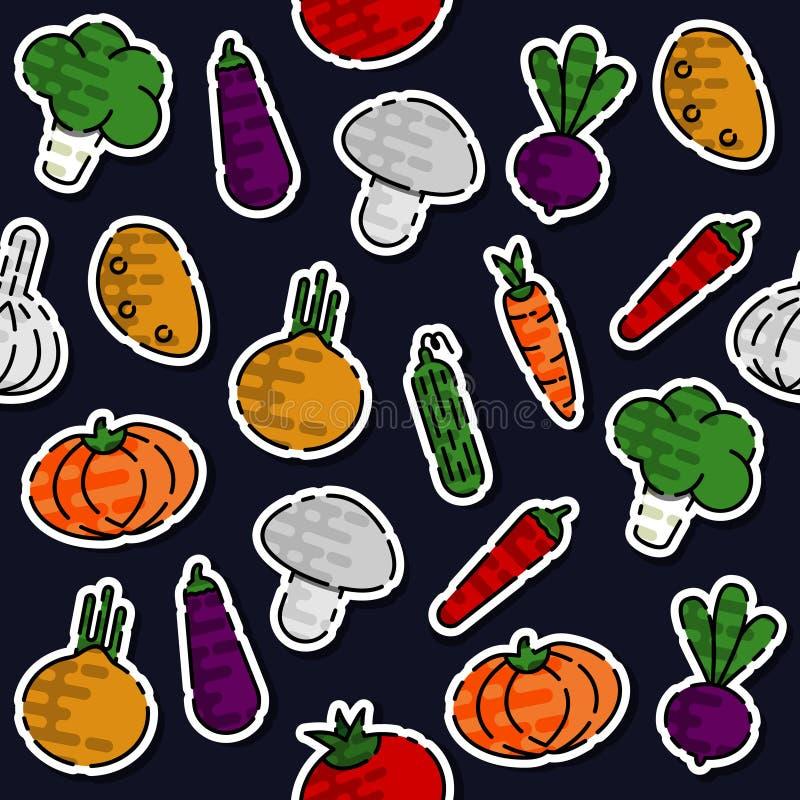 Barwiony warzywo wzór ilustracji