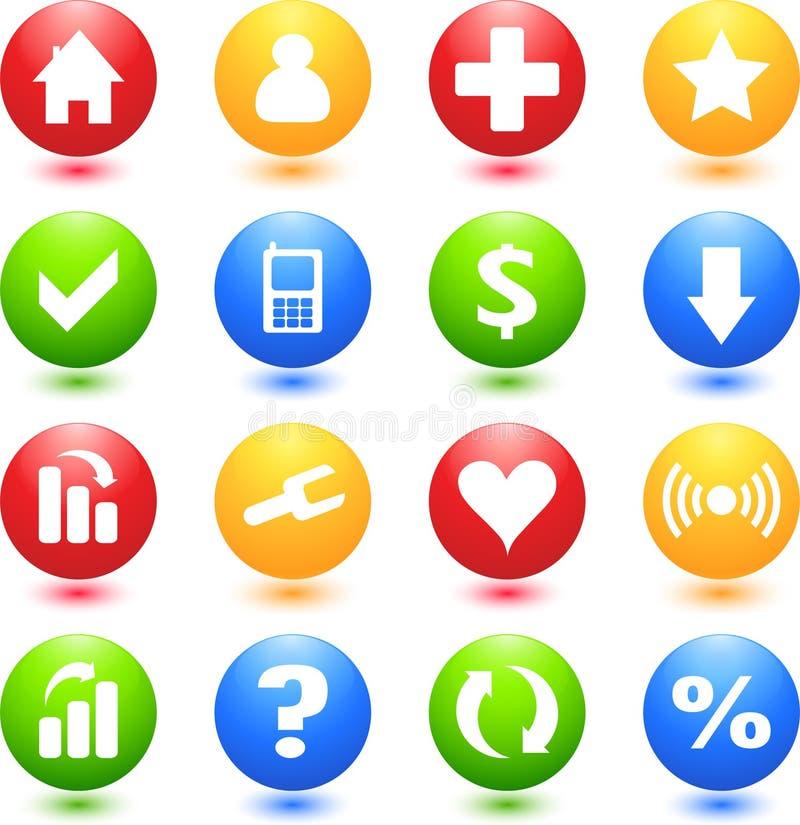 barwionych ikon szyldowa sieć zdjęcie royalty free