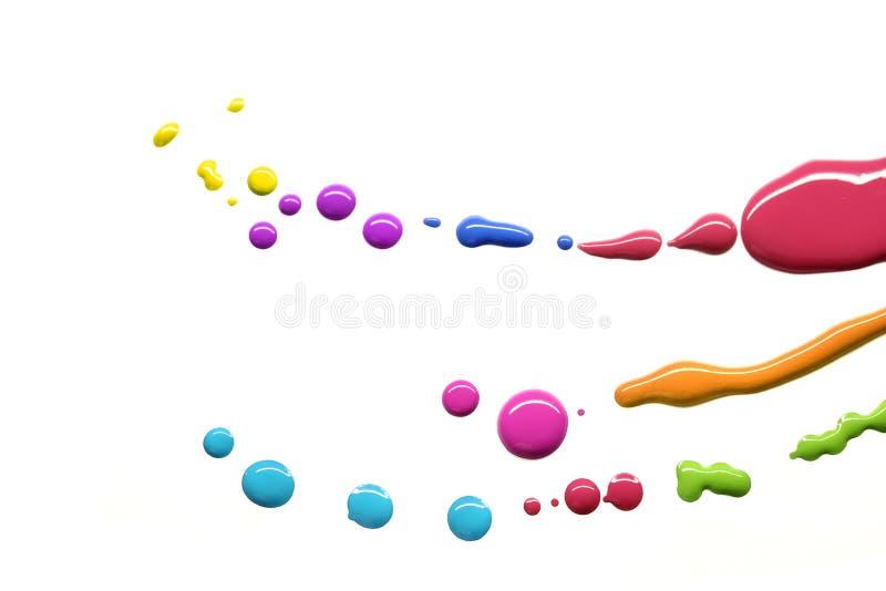 barwionych kropel wielo- farba fotografia stock