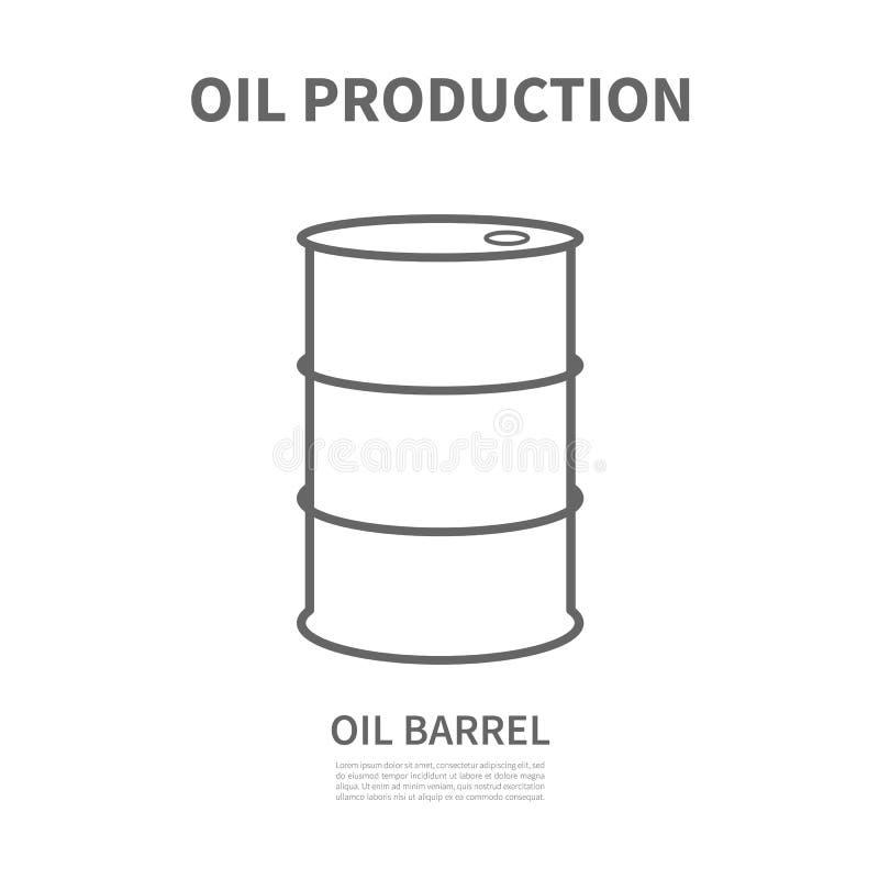 Baryła ropy naftowej ilustracja wektor