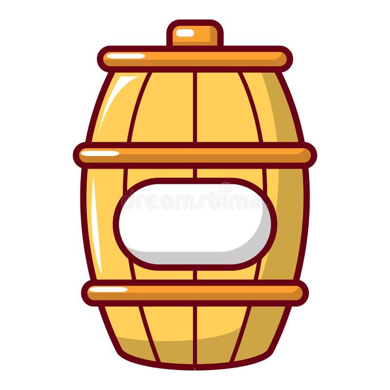 Baryłka miodowa ikona, kreskówka styl ilustracja wektor
