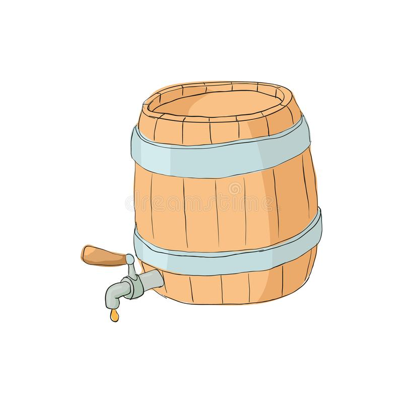 Baryłka piwo ikona, kreskówka styl royalty ilustracja
