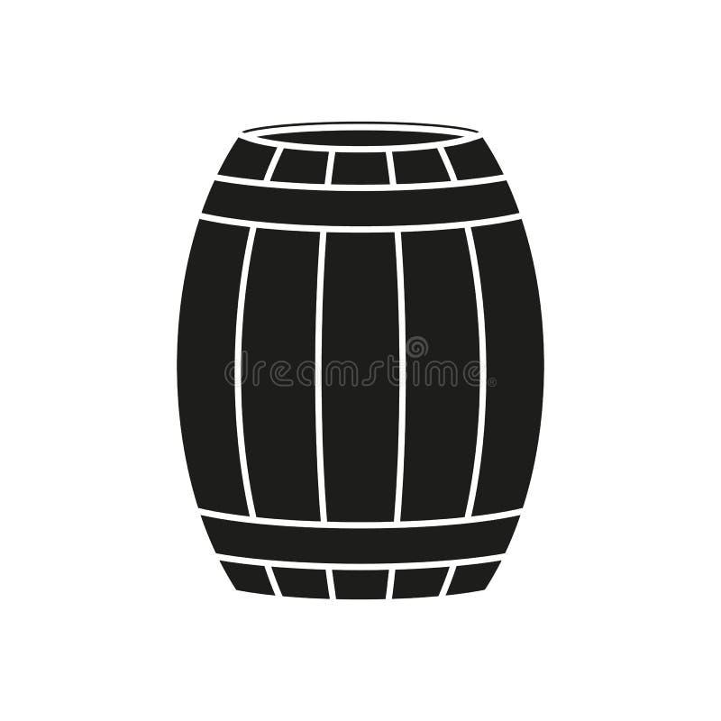 Baryłka wina lub piwa ikona royalty ilustracja