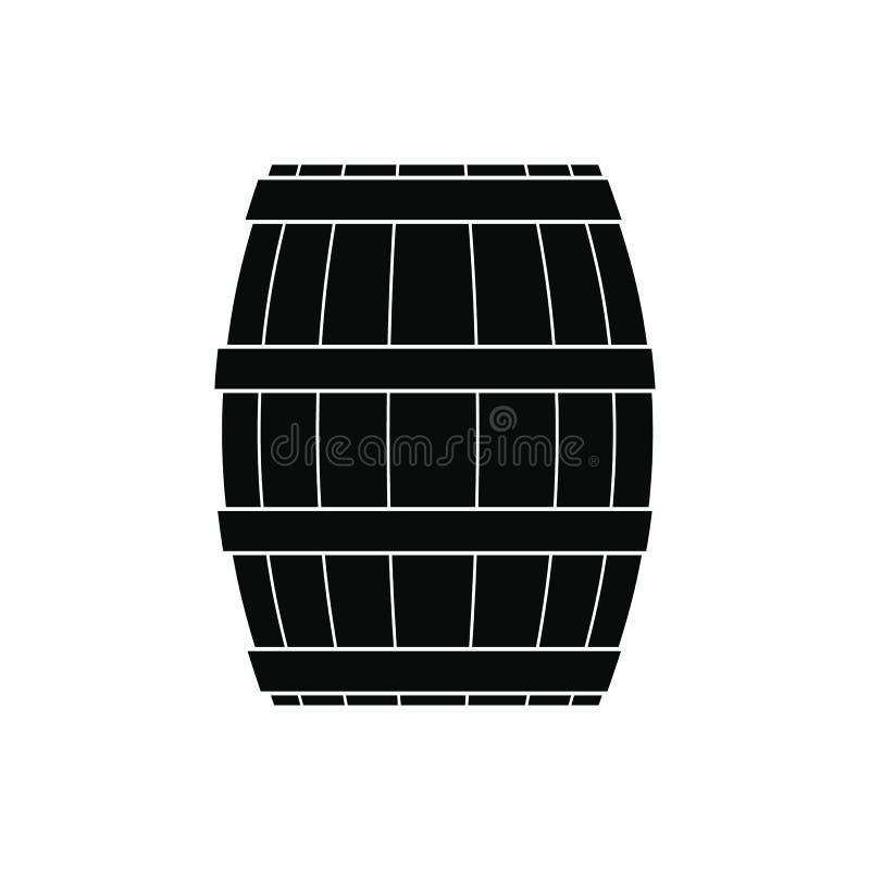Baryłka z miodową czarną prostą ikoną royalty ilustracja