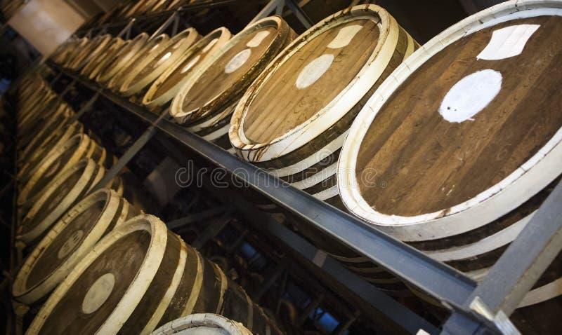 Baryłki śliwkowy brandy obraz stock