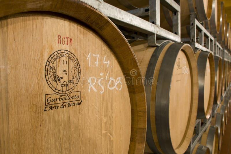 baryłki barrique lochu wina fotografia stock