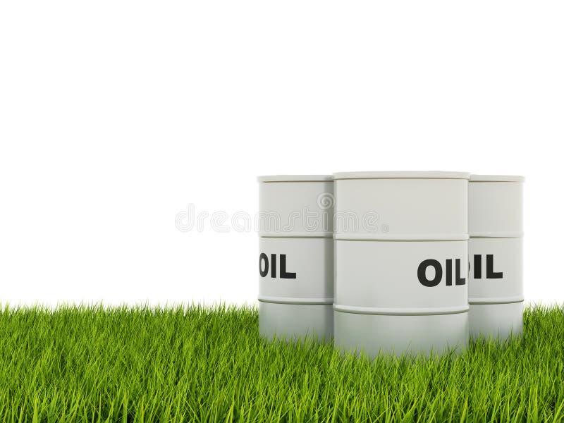 baryłki olej ilustracja wektor