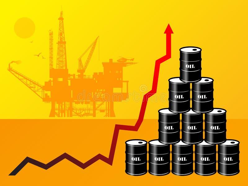 baryłki olej royalty ilustracja