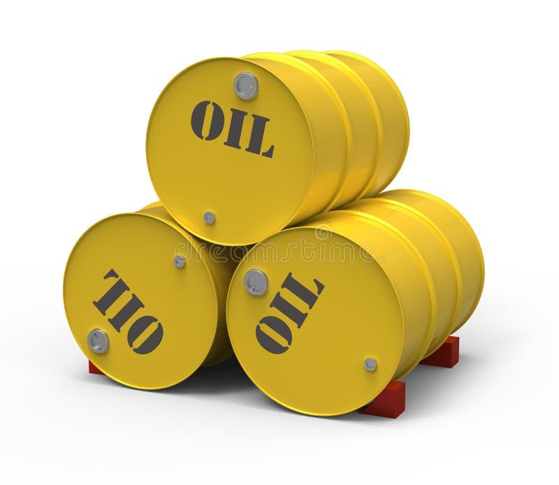baryłki olej trzy royalty ilustracja