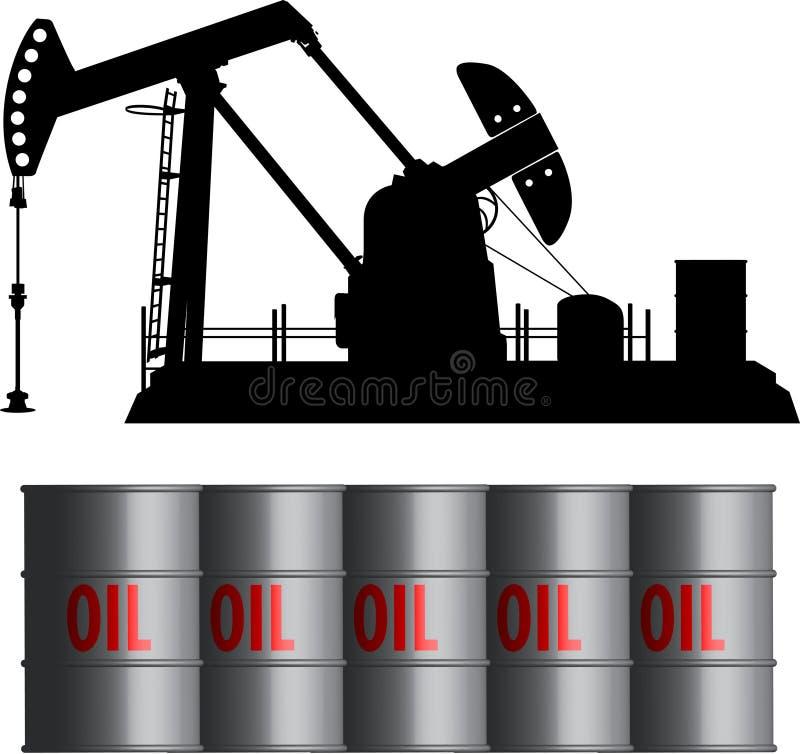 baryłki pole olej ilustracji