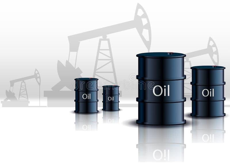 Baryły Ropy Naftowej ilustracja wektor