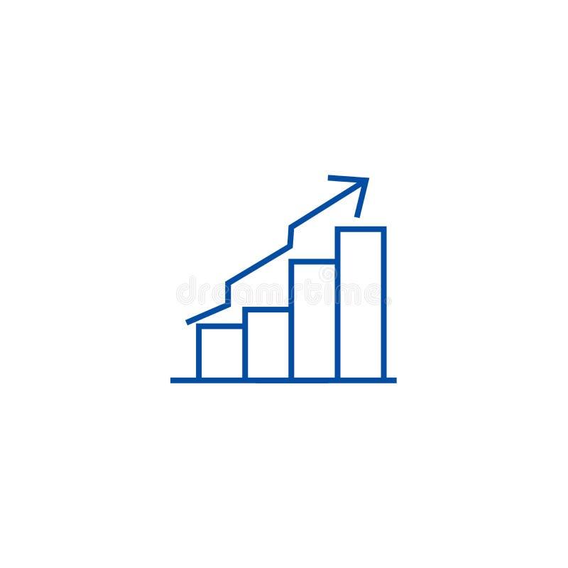 Bary dominującego wykres linii ikony pojęcia Zakazuje dominującego wykresu płaskiego wektorowego symbol, znak, kontur ilustracja ilustracja wektor