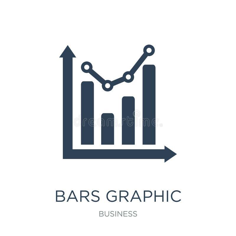 bary graficznej ikony w modnym projekta stylu zakazuje graficzną ikonę odizolowywającą na białym tle bary graficznej wektorowej i ilustracji