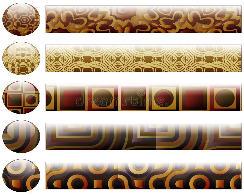 bary guzików projekta elementów target623_1_ ilustracji
