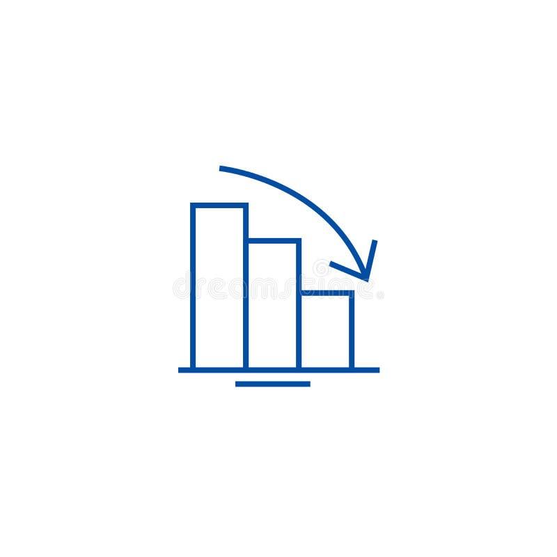Bary pochodzi wykres ikony kreskowego pojęcie Bary pochodzi wykresu płaskiego wektorowego symbol, znak, kontur ilustracja ilustracji
