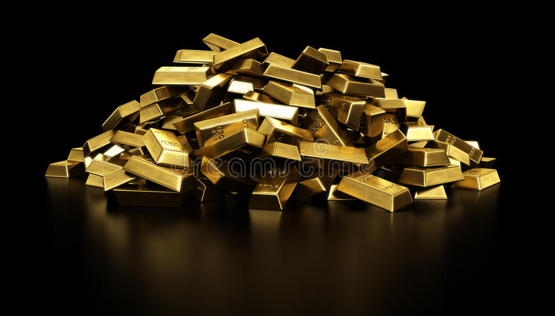 bary złoto stosów royalty ilustracja