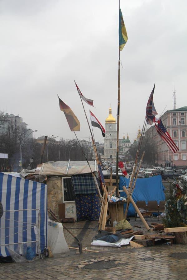 Barykady na Mihailovska kwadracie zdjęcie royalty free
