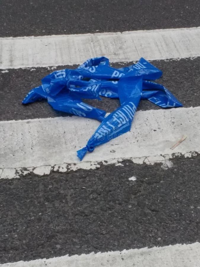 Barykady taśma, Milicyjna taśma, egzekwowanie prawa taśma, NYC, NY, usa zdjęcia royalty free
