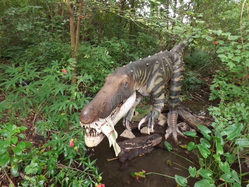Baryonyx Dinosaur. Dino taken at display in Birmingham Zoo royalty free stock photography