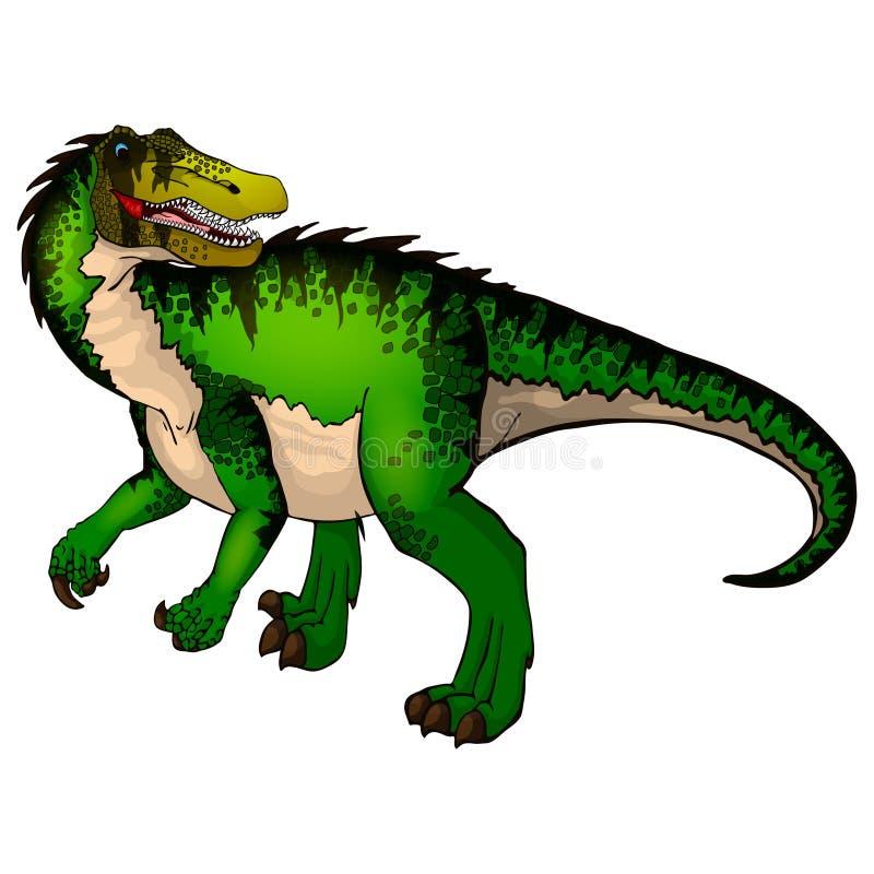 Baryonyx sveglio del fumetto Illustrazione isolata di un dinosauro del fumetto royalty illustrazione gratis