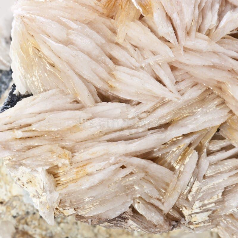Baryt, Mineralien Marokko stockfotos