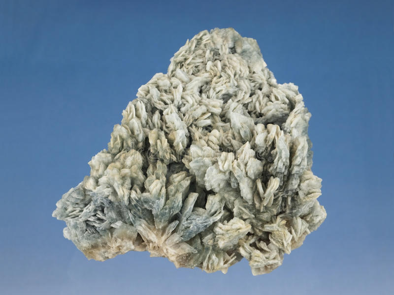 Baryte. Mineral from Union mine in Murcia, Spain stock images