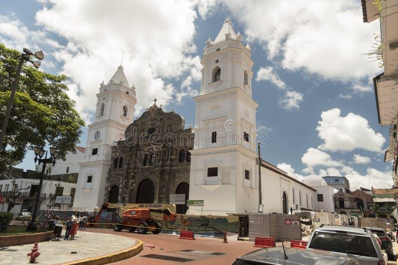 BasÃlica Metropolitana de Santa MarÃa Λα πόλη Παναμάς της Αντίγκουα, Παναμάς στοκ φωτογραφία