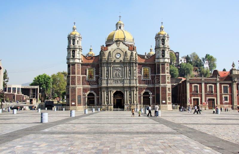 Basílica antiga de nossa Mary de Guadalupe, Cidade do México fotografia de stock