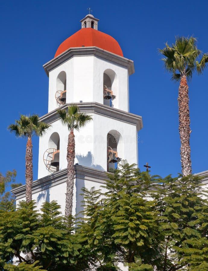 Basílica Califórnia de San Juan Capistrano da missão foto de stock royalty free