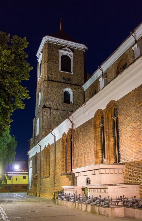 Basílica da catedral de Kaunas foto de stock