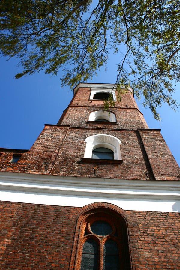 Basílica da catedral de Kaunas em Lithuania imagem de stock royalty free