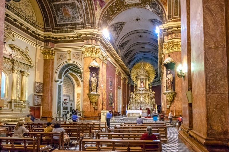 Basílica da catedral do interior de Salta - Salta, Argentina imagem de stock royalty free