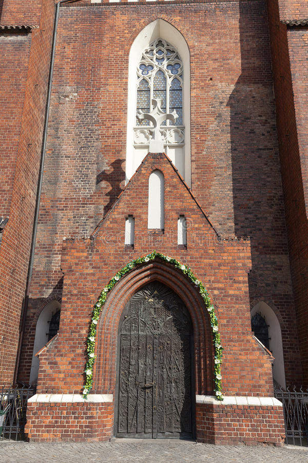 Basílica da cruz santamente, Opole da catedral, Polônia imagem de stock