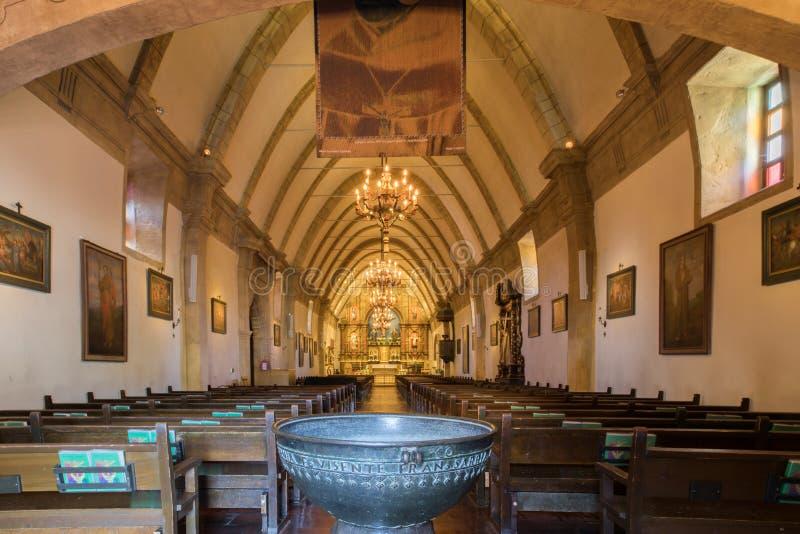 A basílica da missão San Carlos Borromeo Del Rio Carmelo imagens de stock royalty free