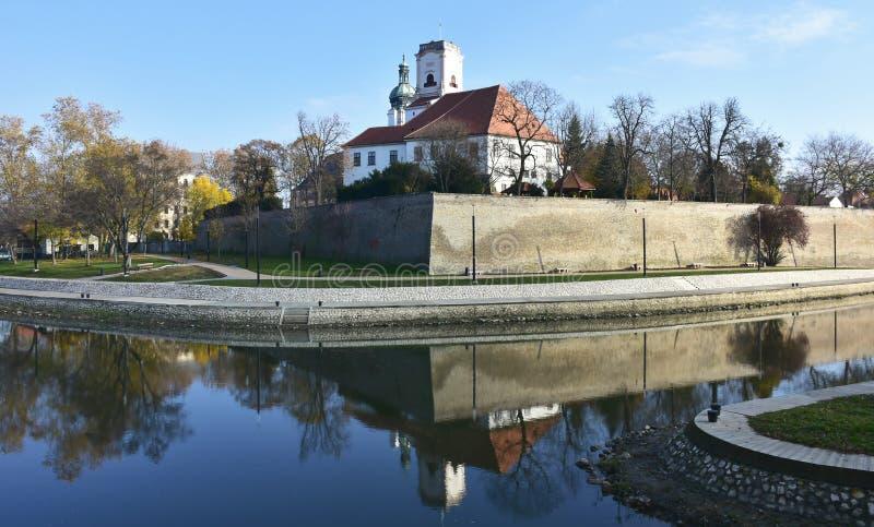Basílica da suposição da Virgem Maria em Gyor, Hungria fotos de stock royalty free