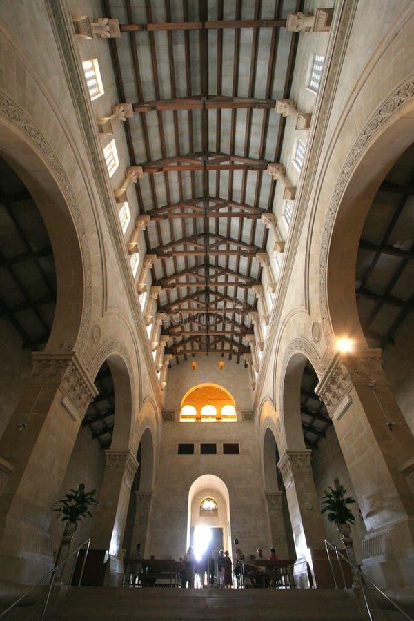 Basílica da transfiguração, montagem Tabor, Galilee fotografia de stock