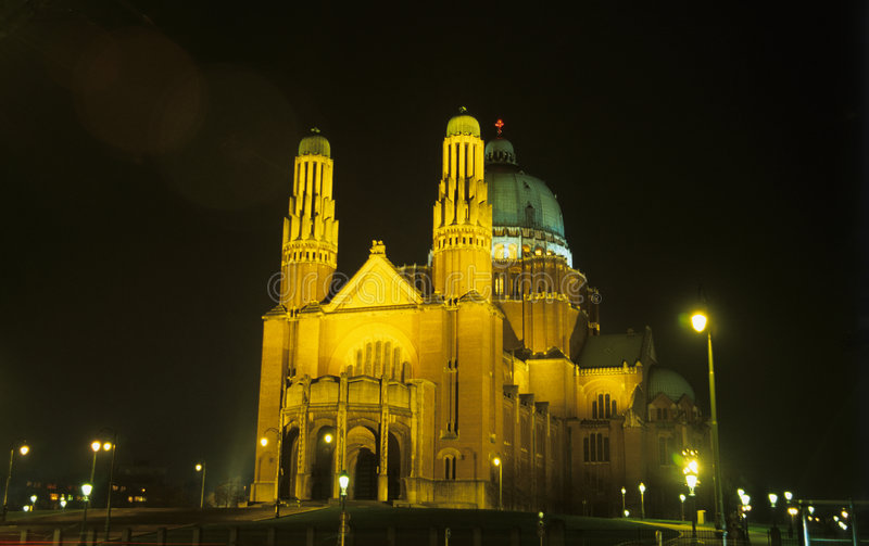 Basílica de Bruxelas fotografia de stock royalty free