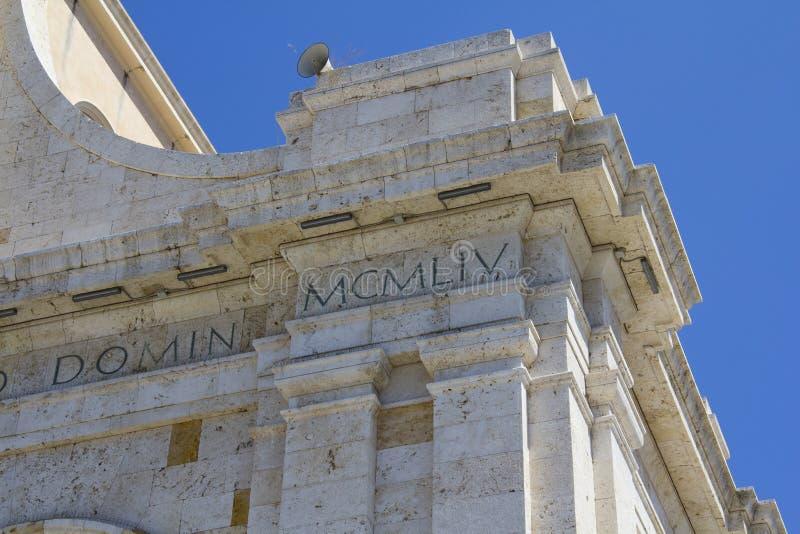 Basílica de Cagliari de Bonaria - Cerdeña fotografía de archivo libre de regalías
