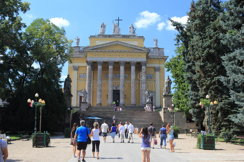 Basílica de Eger hungria fotografia de stock