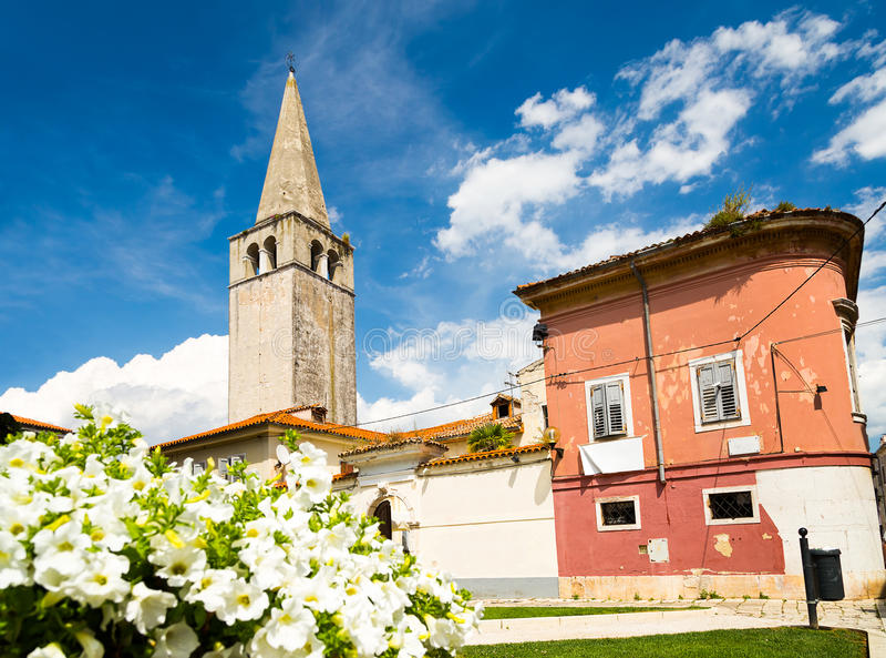Basílica de Euphrasian em Porec, Istria, Croatia imagens de stock royalty free