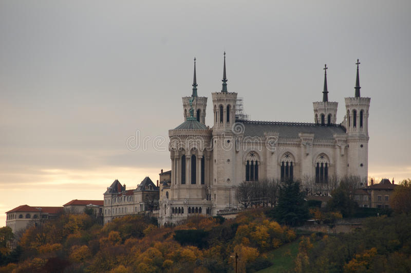 Basílica de Fourviere foto de archivo