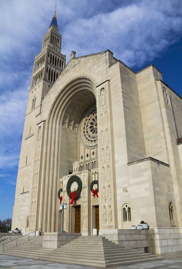 Basílica de la capilla nacional de la Inmaculada Concepción foto de archivo libre de regalías
