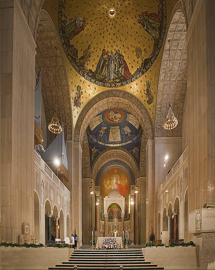 Basílica de la capilla nacional de la Inmaculada Concepción imagenes de archivo