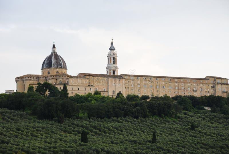 Basílica de la casa santa en Loreto imagen de archivo libre de regalías
