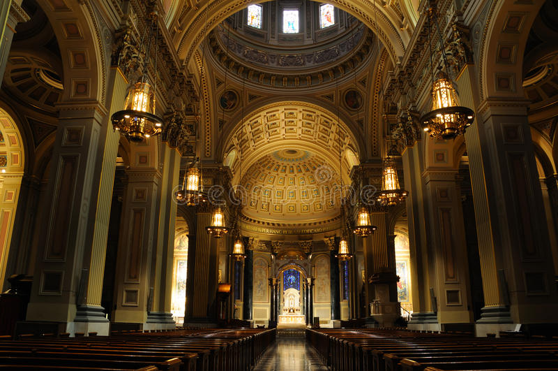 Basílica de la catedral de los santos Peter y Paul fotografía de archivo