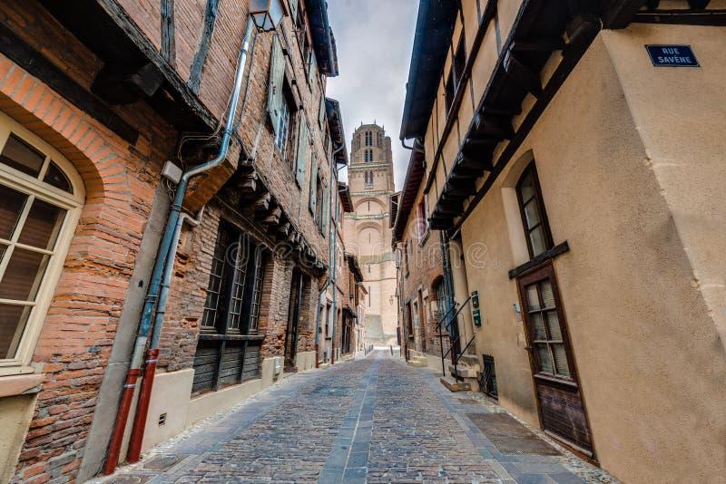 Basílica de la catedral de St Cecilia, en Albi, Francia fotos de archivo
