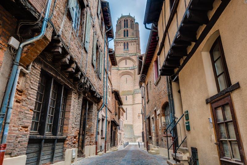 Basílica de la catedral de St Cecilia, en Albi, Francia imagenes de archivo