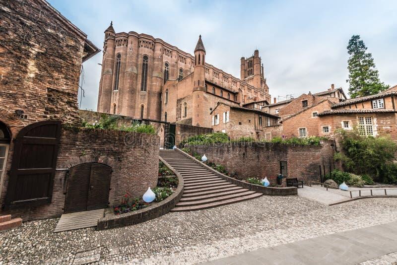 Basílica de la catedral de St Cecilia, en Albi, Francia imagen de archivo libre de regalías