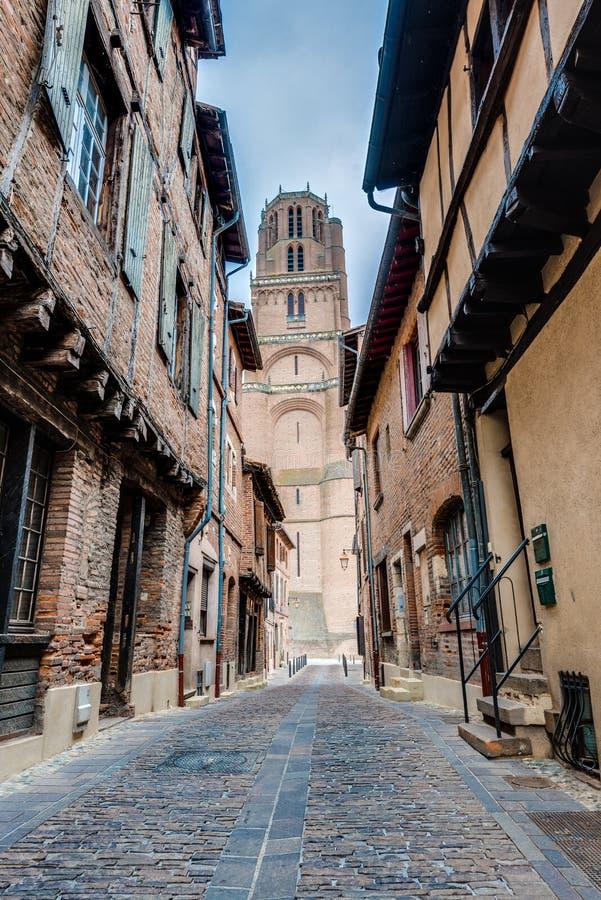 Basílica de la catedral de St Cecilia, en Albi, Francia imágenes de archivo libres de regalías